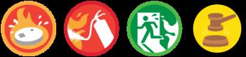 Paloturvallisuus ikonit