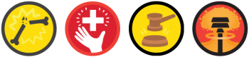 Tapaturmat ja onnettomuudet ikonit